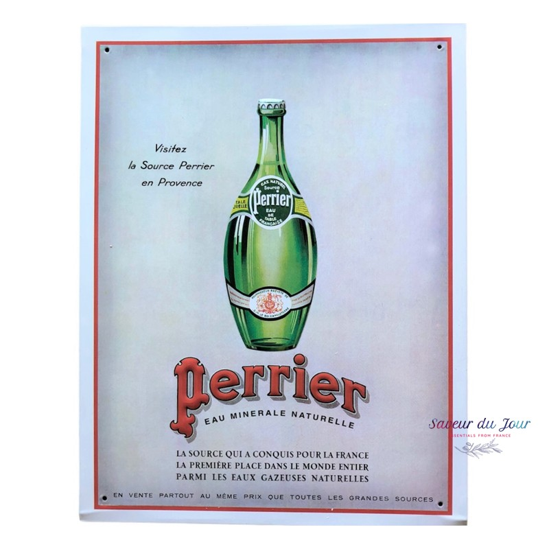 Embossed Tin Sign - Perrier Bouteille
