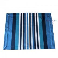 Basque Placemat - Atlantique Blue - Jean Vier