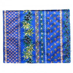 Provence Coated Placemat - Olive Mimosa Blue - Le Cluny