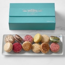 French Macarons - Blue Box 12-count - 2 Flavors