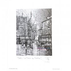 Paris Print - Place du Tertre & Sacre Coeur