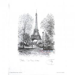 Paris Print - Tour Eiffel - Black & White