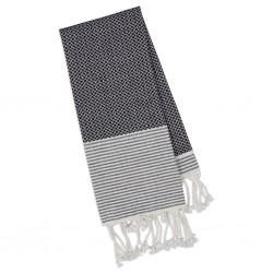 Fouta Towel - Black Diamond