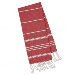 Towel Fouta - Small Red Stripes