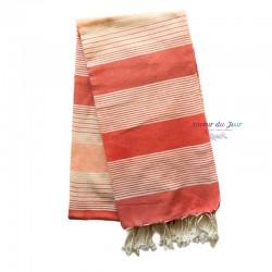 Fouta Towel - Large - Coral Stripes