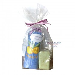 Provence Rosemary Mint Soap & Lemon Embroidered Terry Towel Gift Set