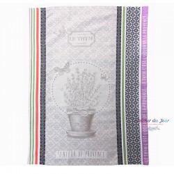 Provence Jacquard Dish Towel - Thym - Tissus Toselli