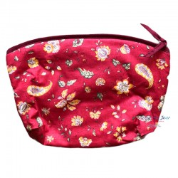 Provence Pouch - Flowers Red - Large