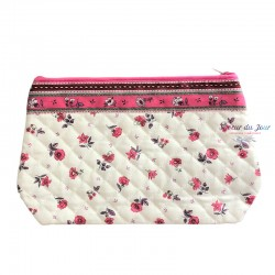 Provence Pouch - Flowers Pink - Large