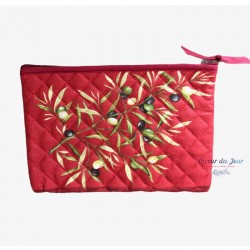 Provence Pouch - Baux Olives Red - Medium