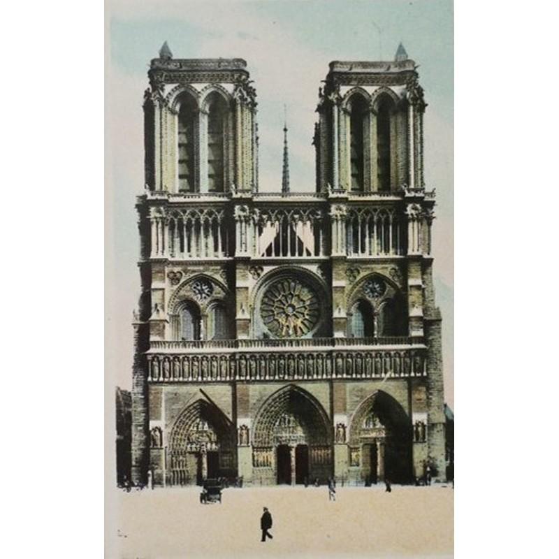 Antique Paris Souvenir Print - Notre Dame
