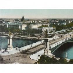 Antique Paris Souvenir Print - Pont Alexandre III