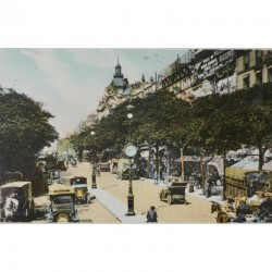 Antique Paris Souvenir Print - Boulevard des Italiens