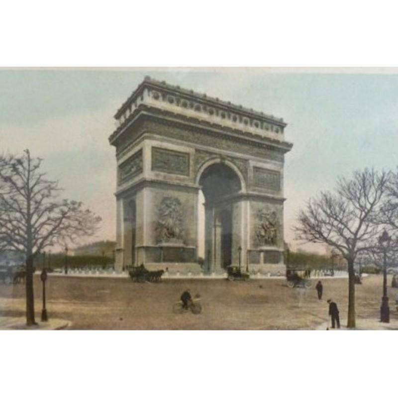 Antique Paris Souvenir Print - Arc de Triomphe