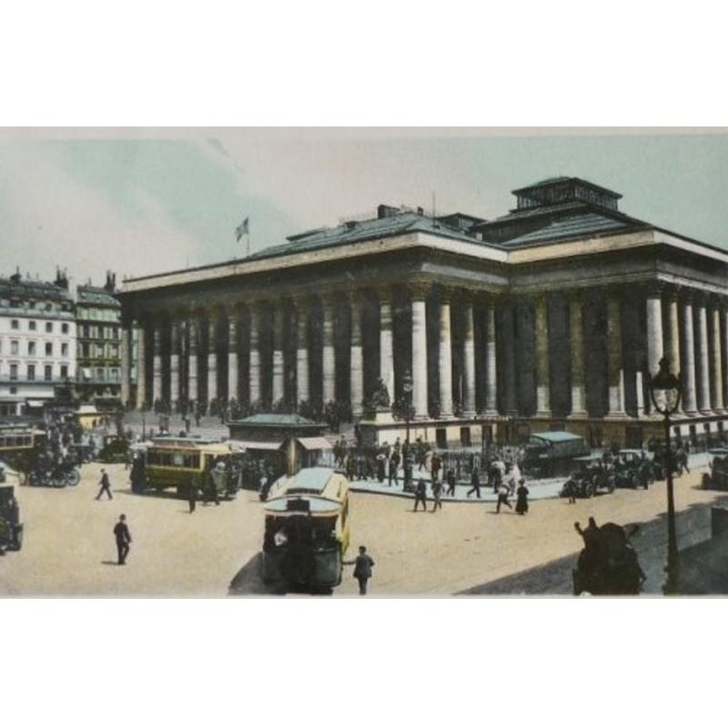 Antique Paris Souvenir Print - Bourse de Paris