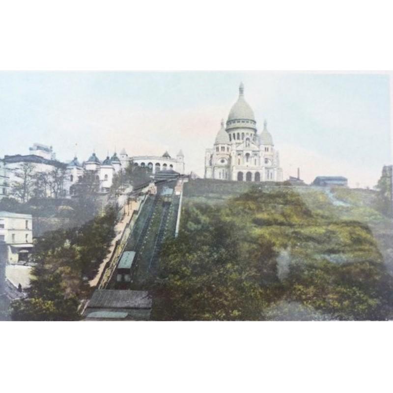 Antique Paris Souvenir Print - Sacre Coeur