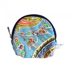 Provence Pouch - Blue Flowers - Small