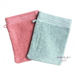 French Pocket Washcloth - Pink or Light Green