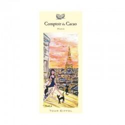 """Dark Chocolate 72 % """"Tour Eiffel Toits de Paris"""" - Comptoir du Cacao - Clearance"""