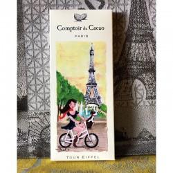 "Dark Chocolate 72 % ""Bicycle in Paris"" - Comptoir du Cacao"