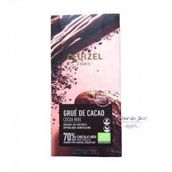 Dark Chocolate 70% Grué de Cacao with Cocoa Nibs - Michel Cluizel