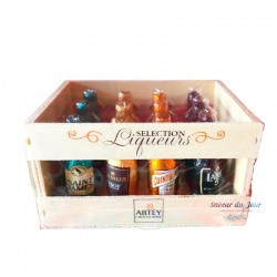 Assorted Liqueur Chocolates in Wooden Crate - Abtey