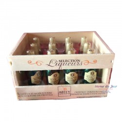 Marc de Champagne Chocolates in Wooden Crate - Abtey