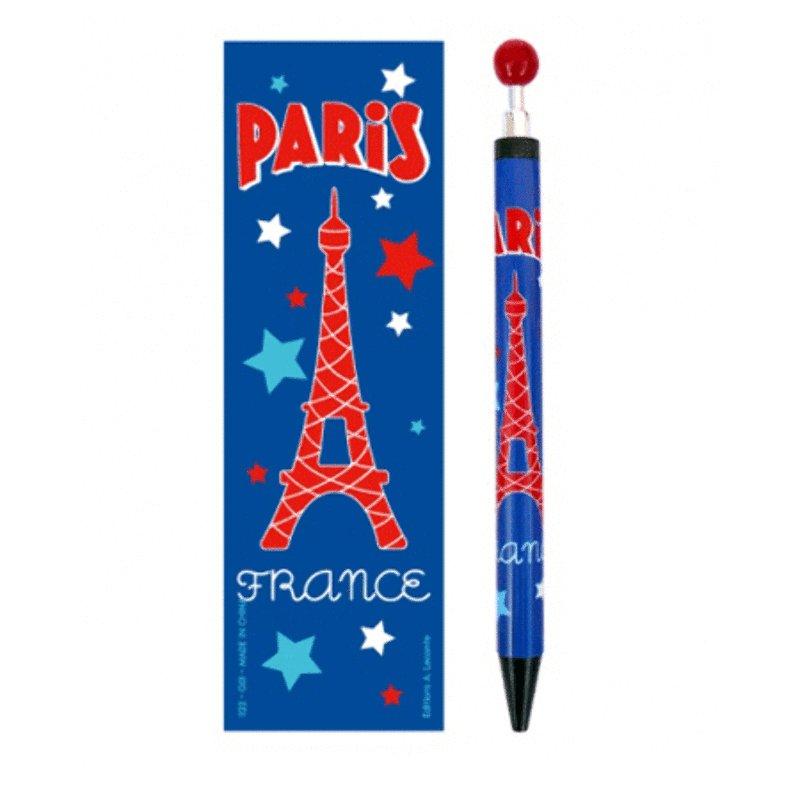 Paris Push Pen - Blue<br>
