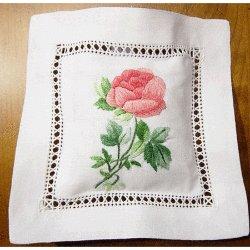 Embroidered Lavender Sachet - Rose<br>